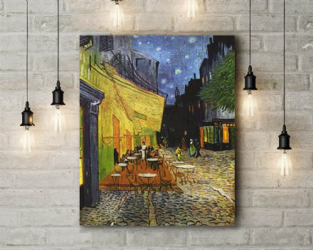 Vincent van Gogh: The Cafe Terrace at Night. Fine Art Canvas.